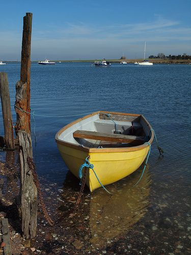 Boat on Halstow Creek Kent on a rising tide [shared]