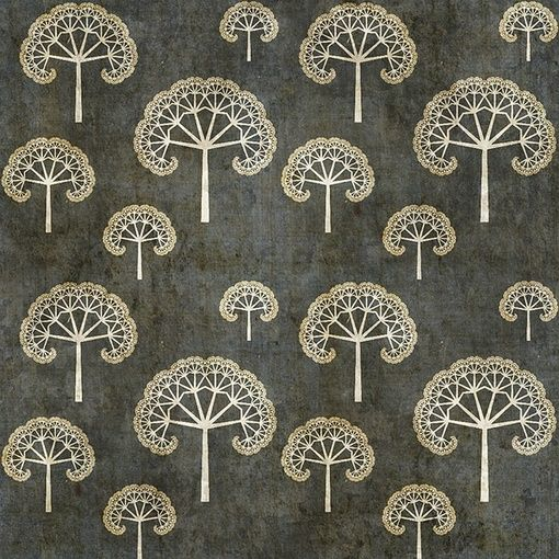 queen anne lace wallpaper - I like looking at this pattern and thinking about the room I would build on it.