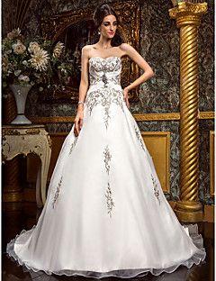 Lanting+Bride®+A-line+Petite+/+Plus+Sizes+Wedding+Dress+-+Classic+&+Timeless+/+Glamorous+&+DramaticVintage+Inspired+/+Sparkle+&+Shine+/+–+USD+$+189.99