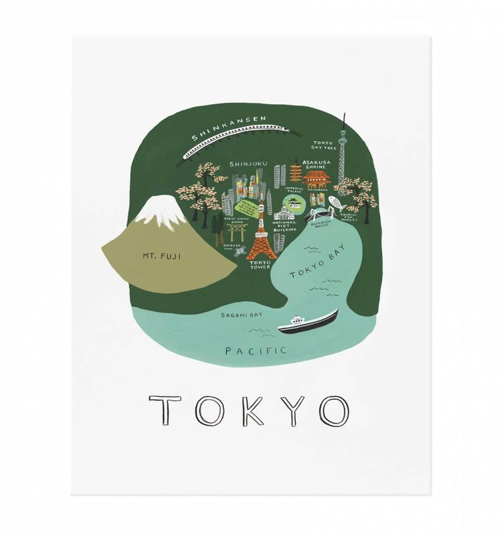 Tokyo Art Print by RIFLE PAPER Co. | Made in USA