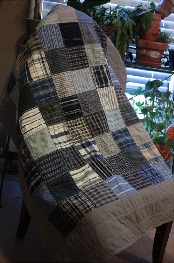 129 best quilts from men's shirts images on Pinterest | Quilt ... : mens quilts - Adamdwight.com