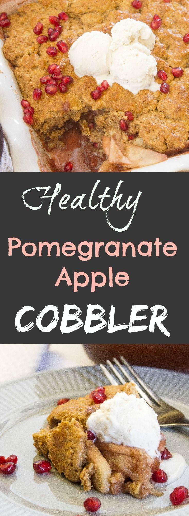Healthy Pomegranate Apple Cobbler/ Kathryn's Kitchen