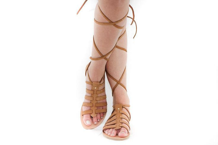 Kriti lace up leather sandals by Kyma