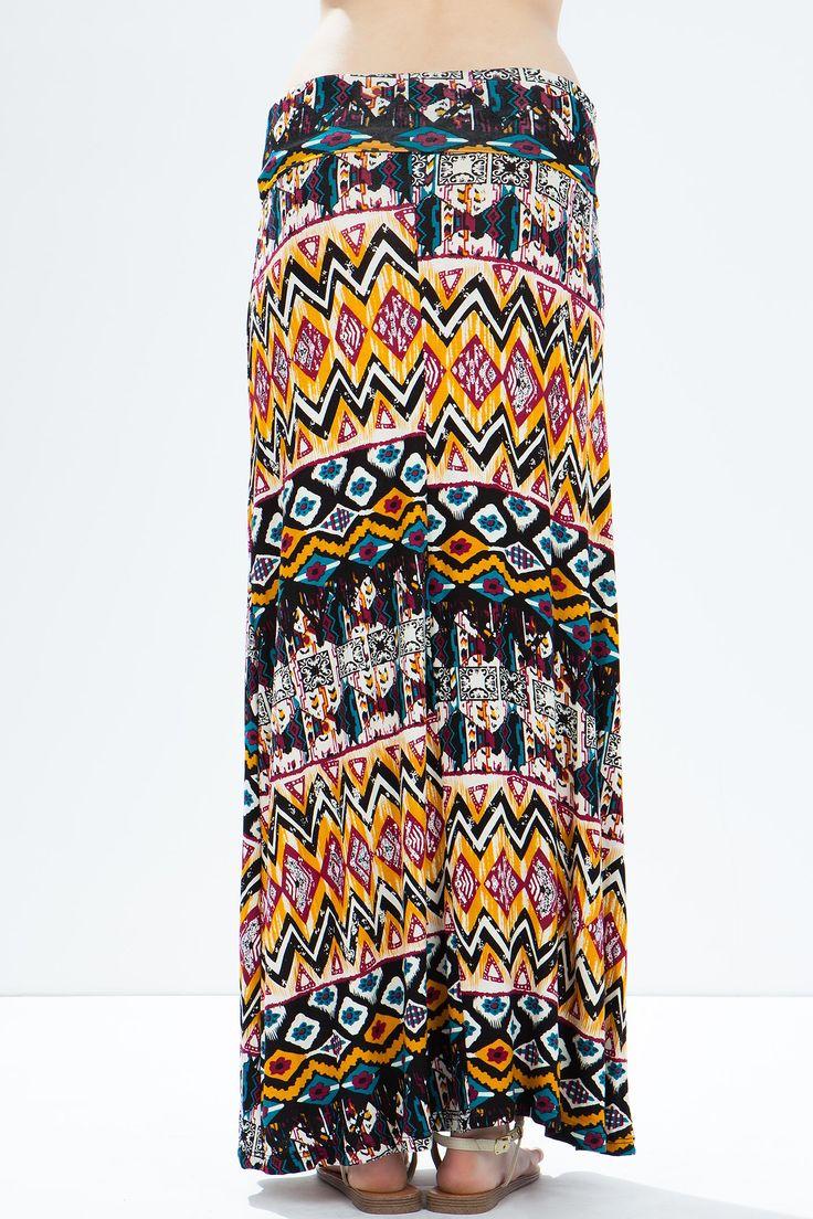 Юбка-макси Размеры: S, M, L Цвет: желтый с принтом Цена: 1190 руб.  #одежда #женщинам #юбки #коопт