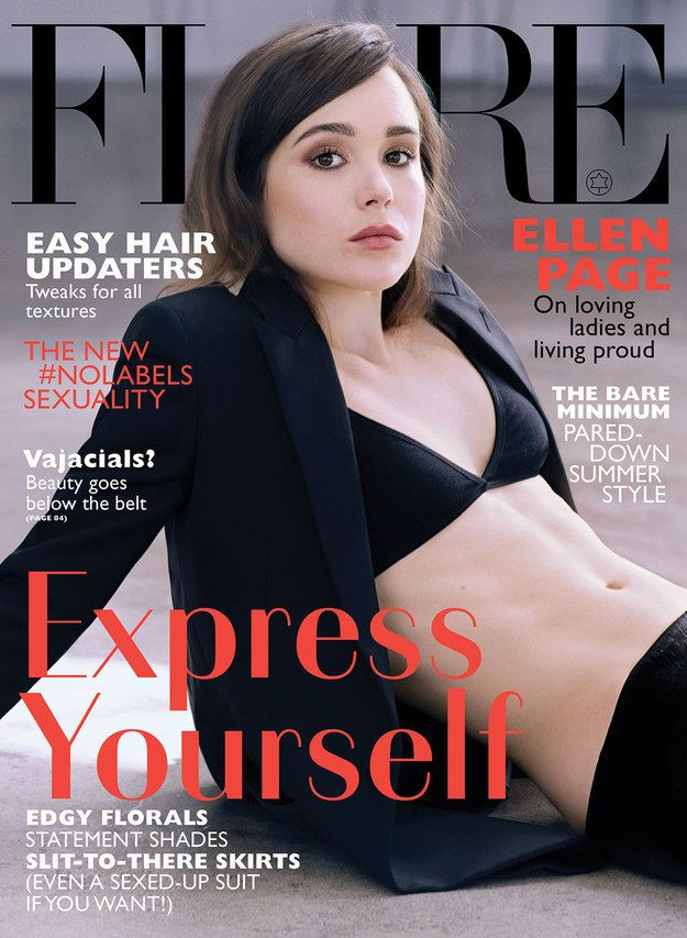 Here is actress Ellen Page on the June cover of Flare, a Canadian fashion magazine. | Ellen Page Looks Jaw-Droppingly Gorgeous In This Flare Cover Shoot