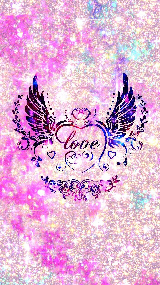 Pink Galaxy Love Wings Made By Me Pink Galaxy Wallpapers Backgrounds Sparkles Glittery Art Love Wallpaper Backgrounds Love Wallpaper Backgrounds Girly