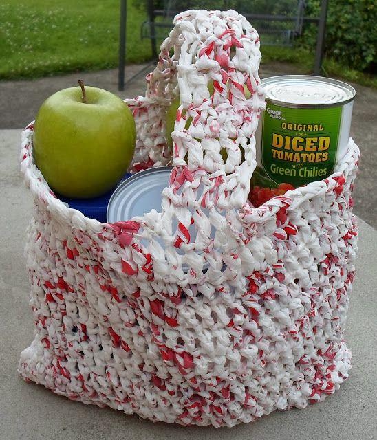 Plarn Shopping Bag-Recycling with Crochet