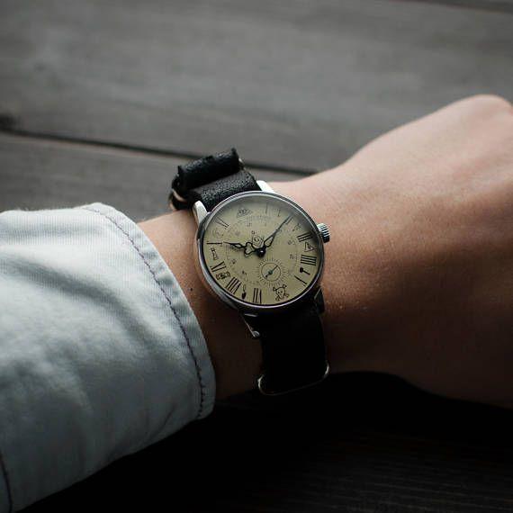 Mechanical watch Maconic, gents vintage watch, soviet Pobeda watch, ussr watch, vintage mens watch, unisex watch