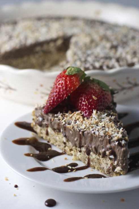 Toasted Coconut Chocolate Cream Pie ~vegan, gluten free~