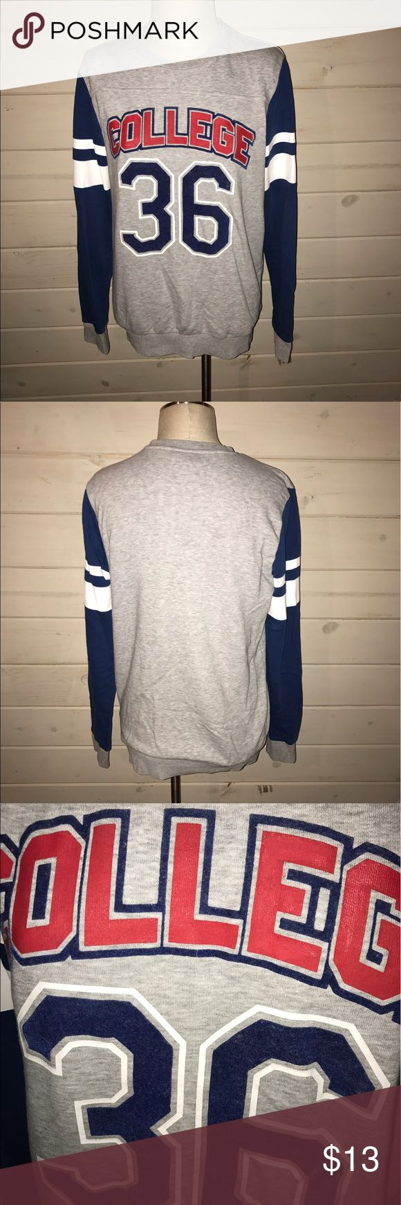 H&M college sweater Worn a couple times. Fits a small and medium Divided Sweaters Crew & Scoop Necks