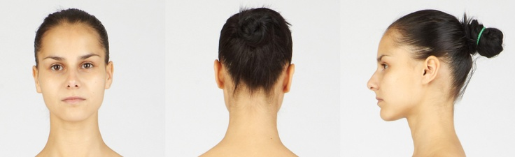 Woman S Face Front Back And Side Views Www 3d Sk