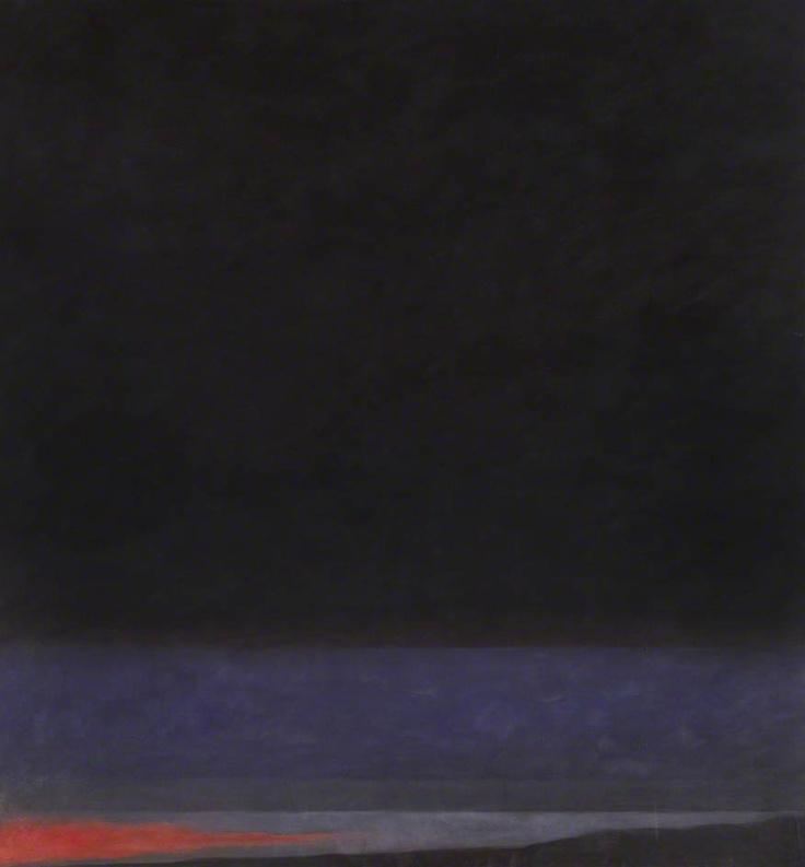 jon schueler(1916–92), night sky: bunty (o/c 375), 1973. oil on canvas, 244 x 226 cm. university of stirling, uk http://www.bbc.co.uk/arts/yourpaintings/paintings/night-sky-bunty-oc-375-127959