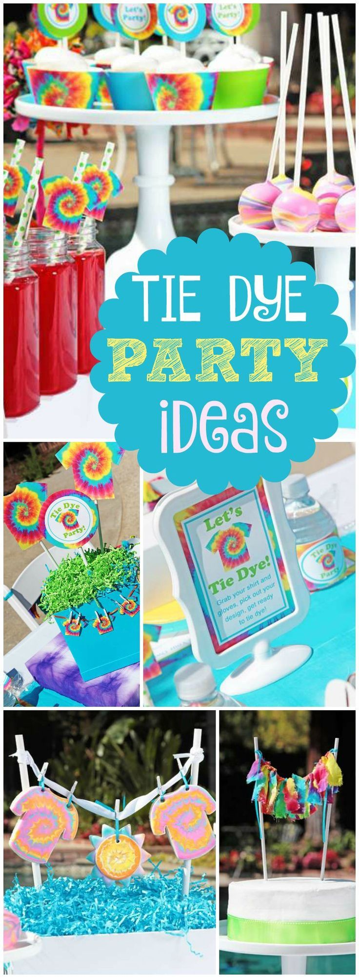 What A Fabulous Tie Dye Summer Party See More Party Ideas