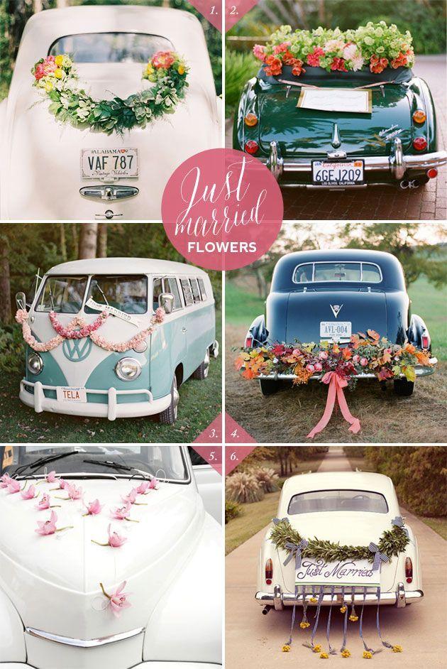 Best Wedding Car Decoration Ideas Accessoires pour réussir votre mariage sur http://yesidomariage.com
