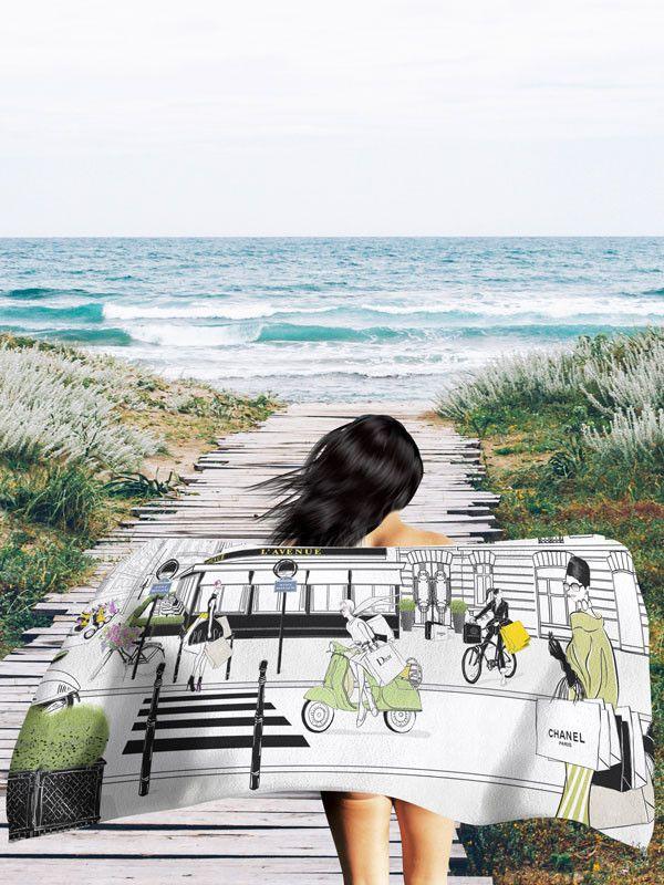 L'Avenue - Beach Towel – Tiffany La Belle