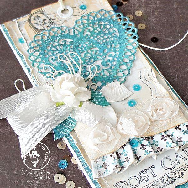 #polandhandmade,  #scrapbooking, #wedding cards, #valentine's day /  #Walentynki  #rudlis
