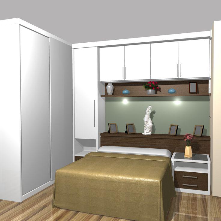 Artesanato Com Cd Passo A Passo ~ 1000+ ideias sobre Quartos Planejados no Pinterest Quarto planejado casal pequeno, Roupeiro