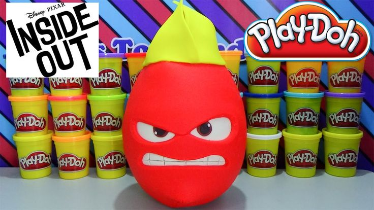 Giant ANGER Play Doh Surprise Egg Disney Inside Out Toys Wikkeez Shopkins Lalaloopsy Minion Surprise