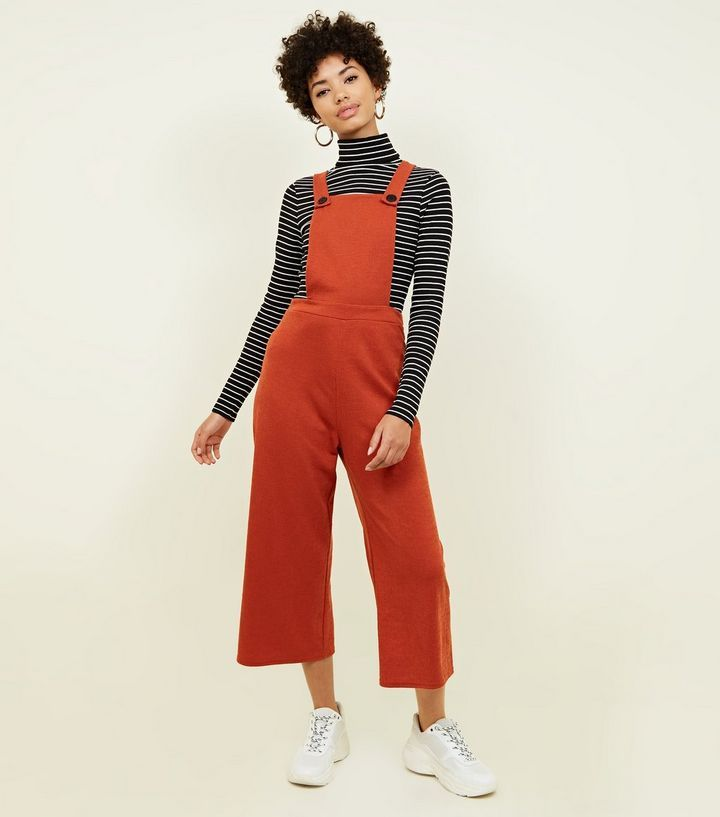 excellent quality select for original strong packing Orange Cross Hatch Jersey Cropped Dungarees | Dungaree ...