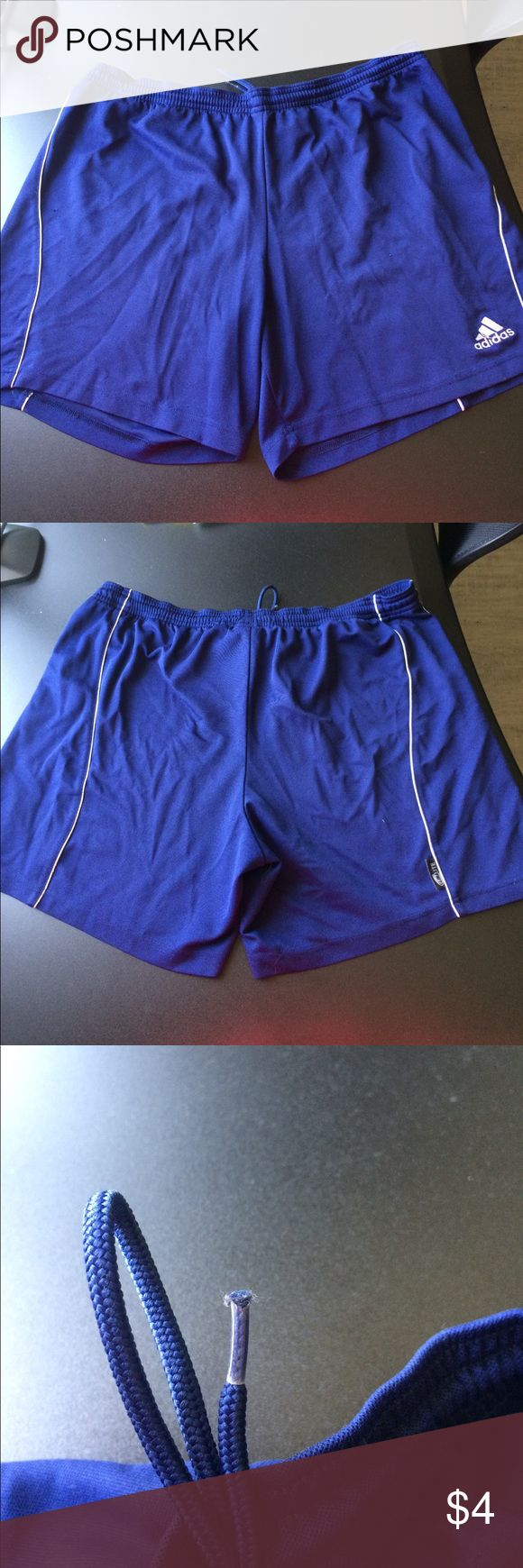Adidas Soccer Shorts Adidas Soccer Shorts - Navy, frayed aglets, unnoticeable snags adidas Shorts