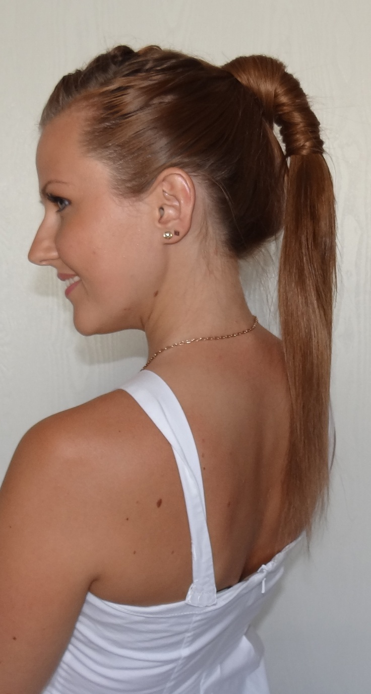 Sexy high ponytail... Hair tutorial is coming soon! Subscribe to my channel on youtube to learn how to do this hairstyle =)High Ponytail