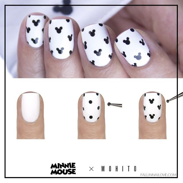 fall in ...naiLove!: Minnie Mouse nails: tutorial.| MOHITO.