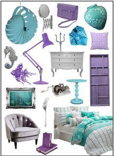 The Little Mermaid room set