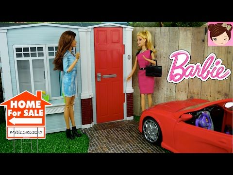 Barbie House  Tour - 2005 Totally Real DollHouse Doll House Playset  - Decorating DollHouse with Furniture - YouTube