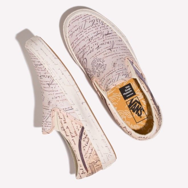 2b5f3f828b74 Vans x Vincent Van Gogh Museum Slip-on Letters to Theo VN0A38F7U7T  VANS   SkateShoes Find great deals for VANS X Vincent Van Gogh Museum Skull Slip  on We ...