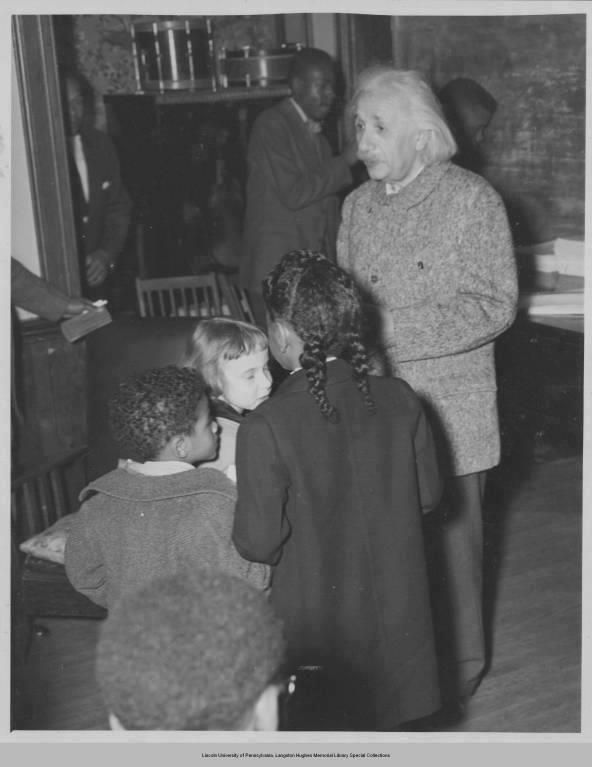 """Einstein, when he arrived in America, was shocked at how Black Americans were treated. """"There is separation of colored people from white people in the United States,"""" he said. """"That separation is not a disease of colored people. It is a disease of white people. And, I do not intend to be quiet about it."""" And, he wasn't."""