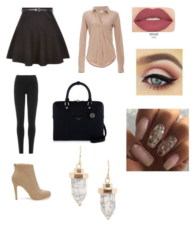 Stylish work outfit by ncita-willey on Polyvore featuring polyvore, fashion, style, Bobi, New Look, DKNY, Henri Bendel, NLY Accessories, Smashbox and clothing