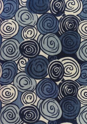 Sonia Delaunay fabric - probably during the 20s. Great pattern.