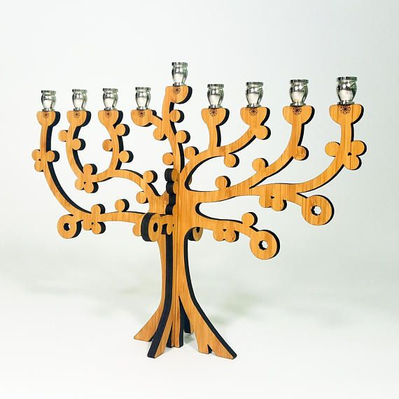 Tree of Life Menorah.  See our Hanukkah Menorah assortment at www.peacelovelightshop.com