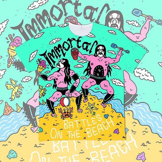"CRMC X @russeltaysom ""Battles on the Beach"" Tee Available at www.crmcclothing.co | WE SHIP WORLDWIDE #sun #sea #sand #summer #summertime #summerwear #summerstreetwear #streetwear #alternative #alternativestreetwear #altwear #alt #altlife #altlifestyle #streetstyle #style #beach #immortal #blackmetal #shorts #picoftheday #instagood #style #styles #crmcclothing #streetwearfashion #metalhead #russeltaysom #metalhead"