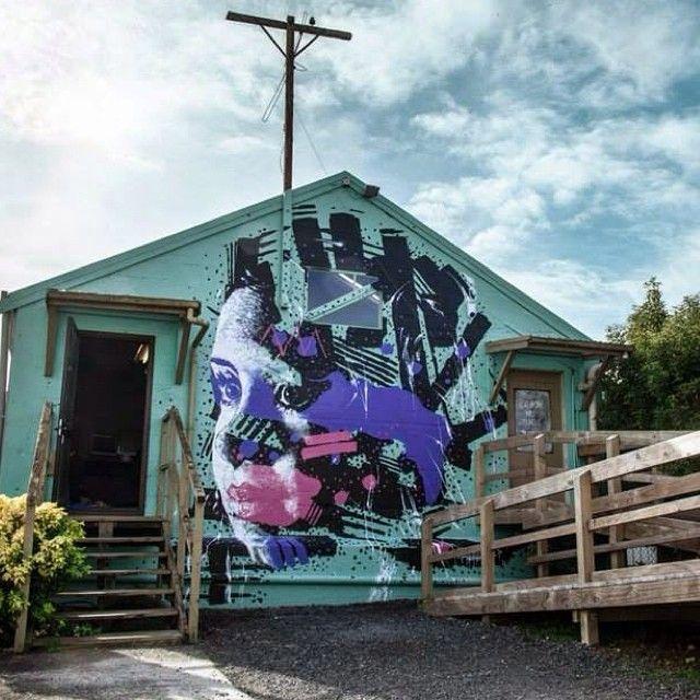 From powwowhawaii - New mural by @askewone in Te Awamutu, New Zealand. Found via @StreetArtNews.