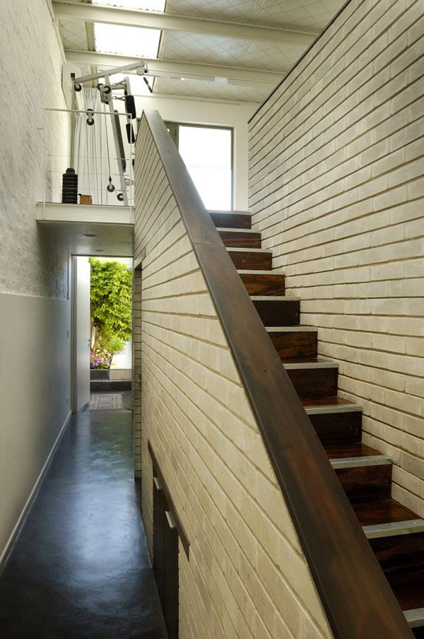 Architecture Stair Case Wooden Marble Floor Wall