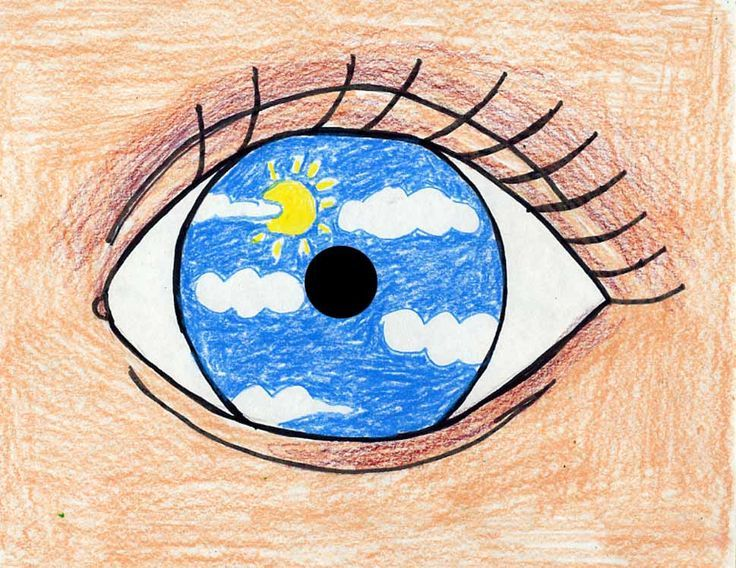 """An Eye for Magritte. Trace a CD and draw an eye filled with whatever you """"see"""". Art Projects for Kids. #magritte"""
