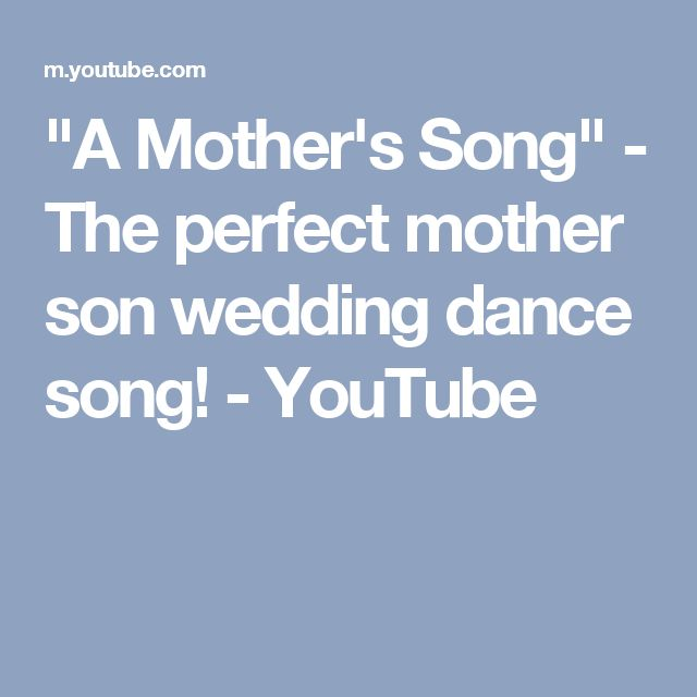 A Mother S Song The Perfect Son Wedding Dance