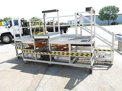 2 Portable Raising Platform Lifts  Assembly Lift Scaffold Way Cool 15' x 6'