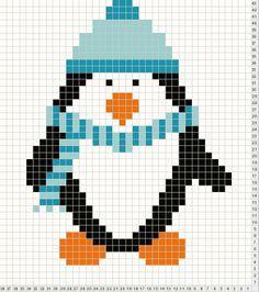 knitting chart penguin - Google-søk