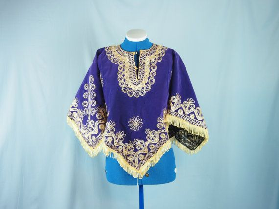 Vintage 50s 60s Mexican Metallic Embroidered by jenniesjunque, $20.00