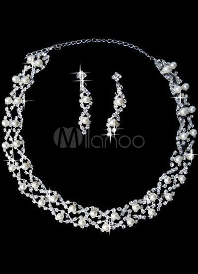 #Milanoo.com Ltd          #Wedding Jewelry Sets     #Grand #Silver #Plated #Rhinestone #Pearl #Earrings #Necklace #Wedding #Jewelry                         Grand Silver Plated Rhinestone Pearl Earrings Necklace Wedding Jewelry Set                              http://www.seapai.com/product.aspx?PID=5692417