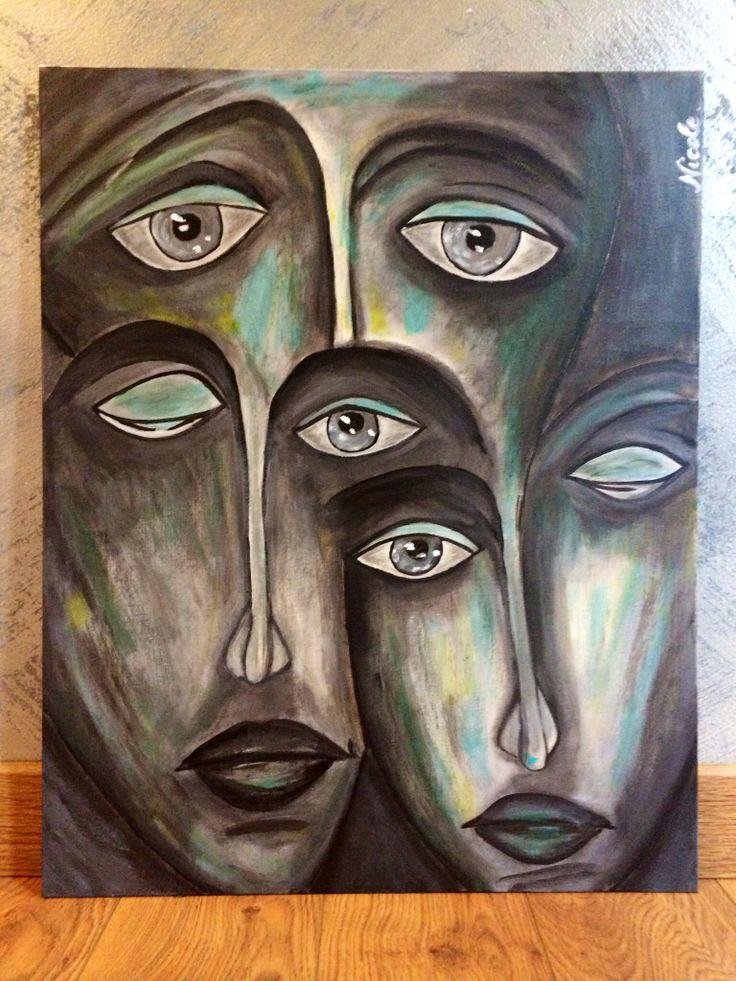 """Ignoti"" acrylic on canvas"