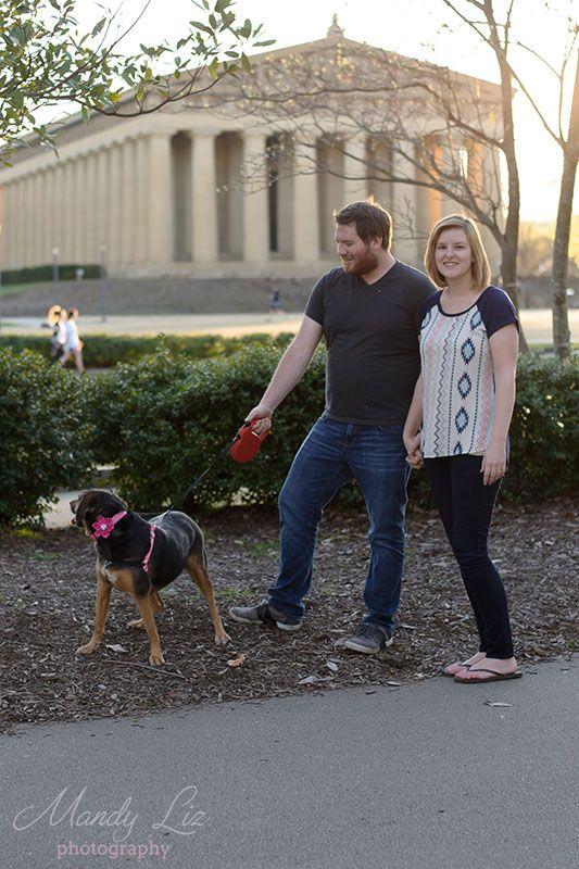 Mandy Liz Pet Photography - Nashville Lifestyle Photographer. Family pet photography session at Centennial Park in Nashville, TN. I love the parthenon in the background!  #petphotography #dogportrait #familyportrait