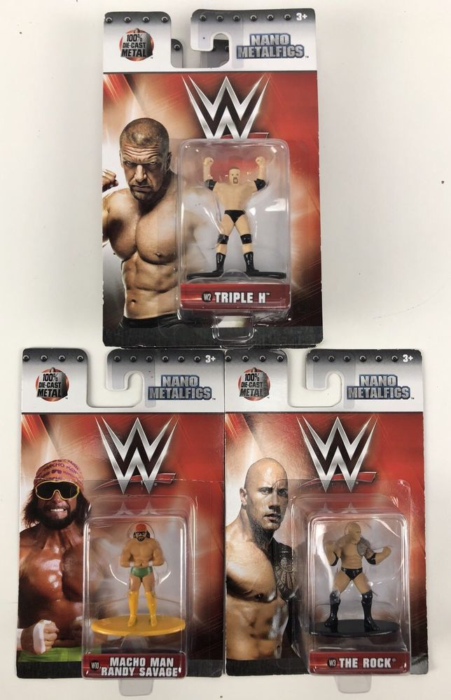 WWE Nano Metalfigs The Rock figure