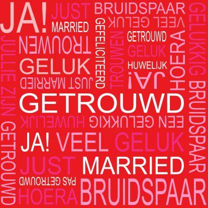 Felicitatie huwelijk - Kaarten voor huwelijksfelicitaties | Kaartje2go