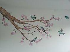 Afbeeldingsresultaat voor muurschildering boom zwart