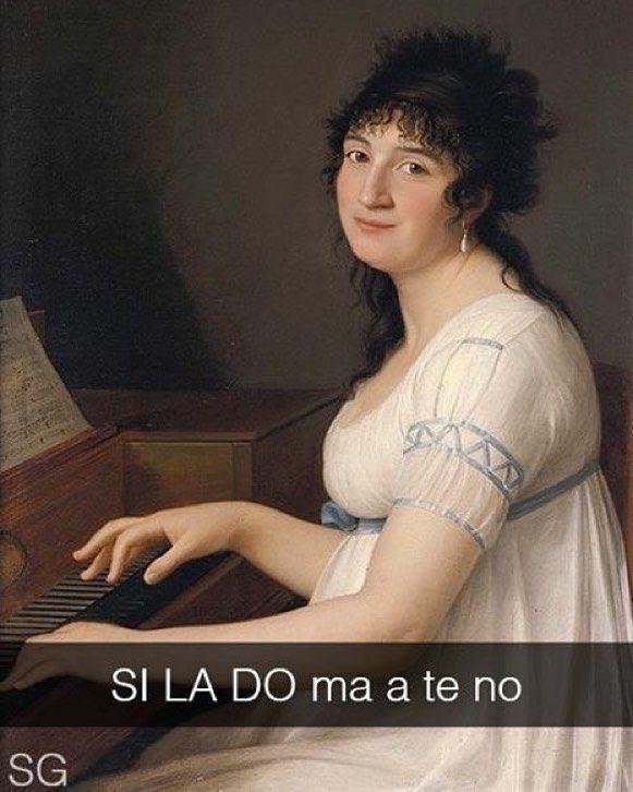 Ritratto di Anna Maria Pellegrini al pianoforte - Gaspare Landi (1800 ca.) #seiquadripotesseroparlare #StefanoGuerrera