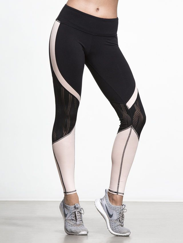 Vitality Legging in Black/buff by Alo Yoga from Carbon38