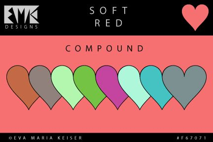 "Eva Maria Keiser Designs: Explore Color: ""Soft Red"" - Compound"